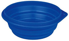 Trixie Silicone Travel Bowl 1l Water Food Fold Flat Collapse Dishwasher Safe