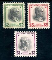USAstamps Unused FVF US $1-5 Presidential Scott 832, 833, 834 OG MNH