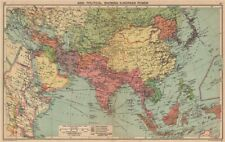 ASIA WW2. Japanese occupied China. European colonies. Manchukuo 1940 old map