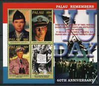 Palau Stamps 2005 MNH WWII WW2 VJ Day World War II John F Kennedy JFK 4v M/S