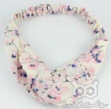 Boho Floral Twist Knot Headband Elastic Wrap Turban Hair Band Yoga Sports Ladies