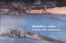 #C131-C1 50c America 1991 AM Stamp First Day Ceremony  Program