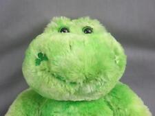 Big Soft Smile Build A Bear Green Frog Retired Plush Shamrocks St. Patrick'S Day