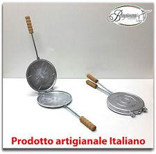 Tigelliera in alluminio per tigella grande o crescentine diam. cm 24 + RICETTA