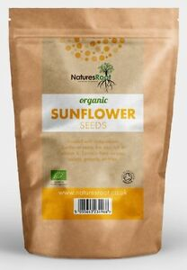 Natures Root Organic Sunflower Seeds - 60g   125g   250g   500g   1kg