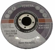 Cutting Grinding Wheel Discs Metal 115mm x 3.2mm x 22mm Pack of 25 Vewerk 8065