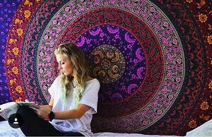 Tenture Murale Indienne Hippie Tapisserie Mandala de Dortoir Ethnique Lit Décor