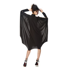 MANTELLO NERO BAT GIRL CM. 120 PER COSTUME HALLOWEEN CARNEVALE