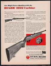 1974 Ruger 10/22 Carbine Vintage Ad shown w/ specs & '74 prices