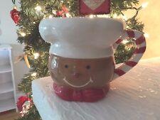 Certified International Gingerbread Man Head Christmas Coffee Mug Cup New!