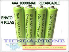 4 PILAS AAA RECARGABLES 1600 mAh NI-MH 1,2v LR3 TRIPLE A .JUGUETES DRON ELECTRO