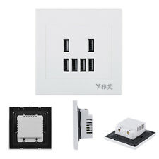 6 USB Port 3.4A Wall Charger Outlet Power Adapter Faceplate Socket Plate Panel H