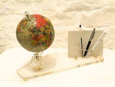 Retro prof.Arthur Krause globe. Desk tidy with mini world globe. Collectables
