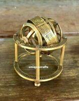Antique Brass Marine Mini Armillary Sphere Astroble Globe Decor Vintage Gift