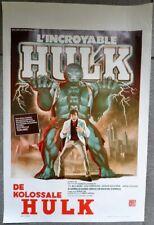 Superbe affiche de cinéma L'incroyable Hulk d'après MARVEL