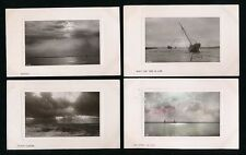 Seascapes Real Photo Picture Postcards Rotary plate sunk x6 used 1907
