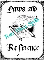 Laws Reference Cover Divider 1 parch pg fr Wicca Book of Shadows Witch Pagan