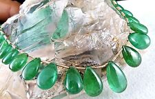 16 MM NATURAL ZAMBIAN EMERALD TEARDROPS 27 PIECES 63 CARATS GEMSTONE NECKLACE