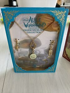 Lot 3 Disney Couture Alice In Wonderland LE  Charm Necklace Collection New