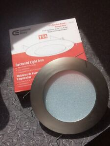 """*NEW* 6"""" Inch Brushed Nickel Shower Trim Wet Location Recessed Light T14 799 440"""