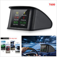 T600 Auto Car GPS HUD LED Heads Up Display Scanner Digital Speedometer Detector
