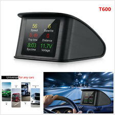 T600 Auto Car GPS HUD LED Heads Up Display Scanner Digital Speedometer Detector