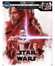 Star Wars The Last Jedi 4k UHD Blu-Ray Digital HD SteelBook best buy global ship