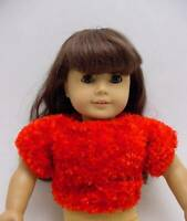 """Sweater for 18"""" American Girl Doll Clothes Pullover Red Novelty Knit New"""