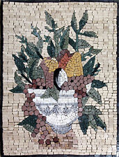 Food Basket Fruit Bowl Kitchen Design Home  Decor Marble Mosaic GEO1032