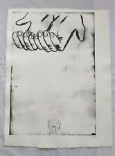 ENZO CUCCHI - ETCHING - LA MANA 1 - SIGNED AND NUMBERED