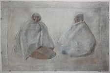 FRANCISCO ZUNIGA-Mexican Artist-Hand Signed Lim.Ed Color Mixograph-2 Mayan Women