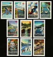 CANALS = YACHT, SHIP = set of 10 different stamps Canada 1998 #1725-1734 MNH