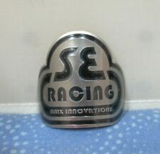SE Racing BMX Head Badge in Silver / Black - New