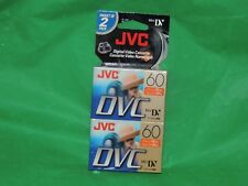 JVC MINI DV  TAPES  (2)  DVM60ME  M-DV60DU DIGITAL VIDEO CASSETTE TAPES