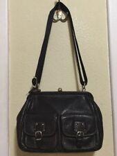 FOSSIL 75082 BAG CROSSBODY Handbag Shoulder Purse  LEATHER Kiss lock