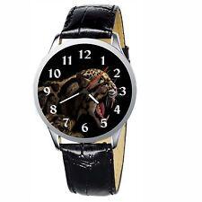 Angry Jaguar Stainless Wristwatch Wrist Watch