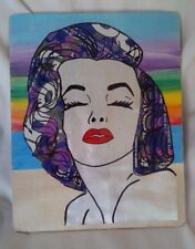 """Rare MARILYN MONROE Recycled """"Four Loko Camo"""" Can Artwork Portrait Wall Plaque"""