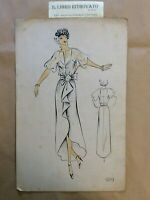 26-RA Bozzetto Figurino Moda. Croquis de Mode, Models pour Dames N. 929 anni '80