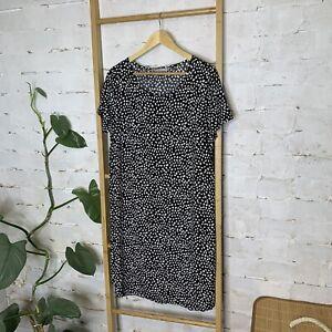 Target Size 12 M Black Women's Animal Print T-Shirt Dress Leopard As New