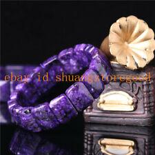 Rare Top Quality Natural Purple Sugilite Gemstone Beads Bracelet 7.5''