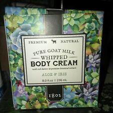 Beekman 1802 Aloe & Iris Whipped Body Cream, 8 oz *New & Sealed* Free Ship