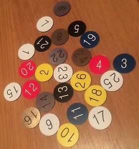 Engraved 30mm discs - Table numbers Pubs Restaurants Clubs