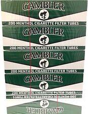 Gambler Menthol King Size KS RYO Cigarette Filter Tubes - 5 Boxes (1000 Tubes)