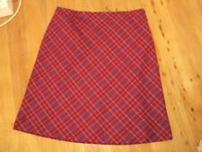 sara tartan  check skirt  wool mix