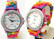 Unisex Stainless Steel Silicone/Rubber Casual Wristwatches