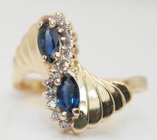 Gorgeous Women's Neiman Marcus 14K Gold .50 Ct Sapphire & Diamond Ring Size 6.75