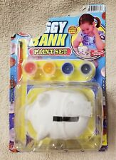 "Piggy Bank Paint Set 3.5"" Ceramic w/ Brush & Paint Jaru 1330 New in Package"