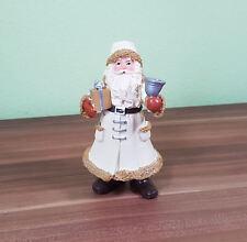 Sehr schöne Weihnachtsfigur Weihnachtsmann Santa Claus mit Geschenk  und Glocke