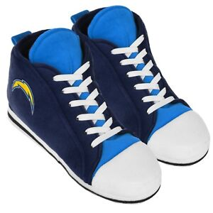 Los Angeles Chargers High Top Sneaker SLIPPERS New - FREE U.S.A. SHIPPING