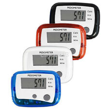 LCD Digital Step Pedometer Walking Calorie Counter Distance Run Belt Clip New